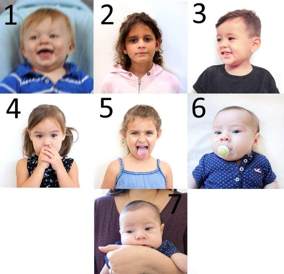 Неправильные образцы фотографий детей для заявки на Лотерею Green card